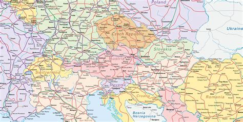 map of central europe central europe interrail maps central