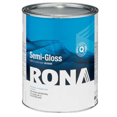 latex paint in bathroom paint quot semi gloss finish quot interior acrylic latex rona