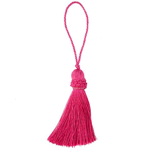 Decorative Curtain Tie Backs Luxurious Pink Key Tassel The Unique Seat Company