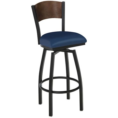 Unfinished Swivel Bar Stools by Premier Hospitality Furniture 257bhs Solid Wood Back