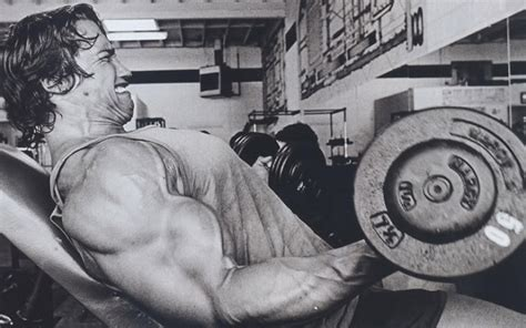 arnold schwarzenegger bodybuilding workout routine and