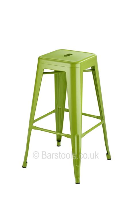 Green Stool For Days by Tolix Style Bar Stool Green