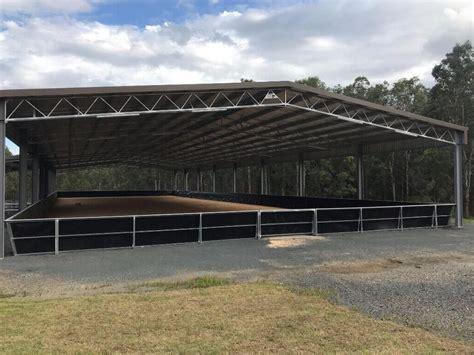 case study horse arena cover  grafton nsw techspan