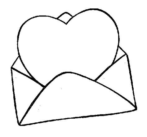 imagenes de corazones sin pintar dibujo de coraz 243 n en un sobre para colorear dibujos net