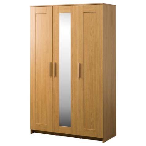 Wardrobes Ikea Uk by Brimnes Wardrobe With 3 Doors Oak Effect 117x190 Cm Ikea