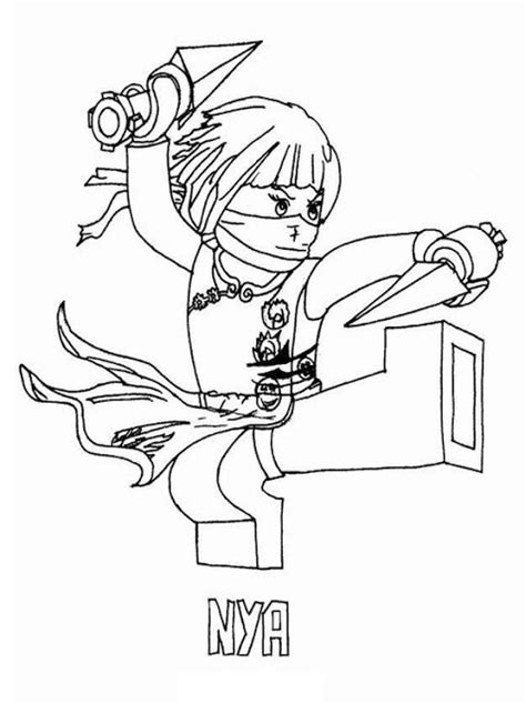 lego ninjago coloring pages online lego ninjago nya coloring pages colorings net