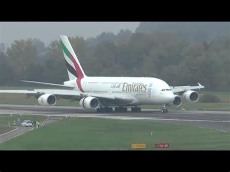 emirates zurich airport emirates a380 beautiful landing at zurich airport 04 10