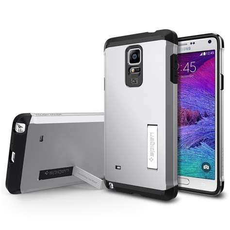 Sgp Tough Armor Plastic Tpu Combination With Kickstand For Ga sgp tough armor plastic tpu combination with kickstand for galaxy note 4 oem silver