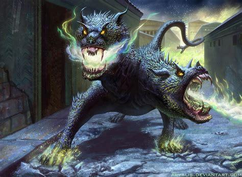 mythical creature restrained bound dragon hellhound by arvalis on deviantart