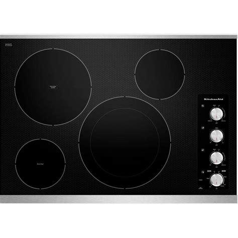 stainless steel cooktops kitchenaid architect series ii 30 in ceramic glass