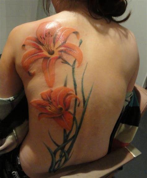 tattoo tiger flower full color tiger lily tattoo tattoos pinterest