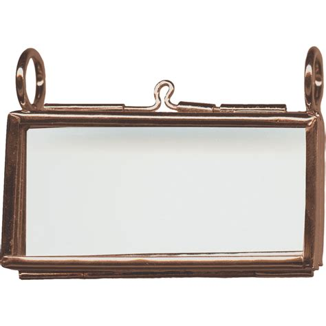 antiqued copper plated picture frame pendant hinged