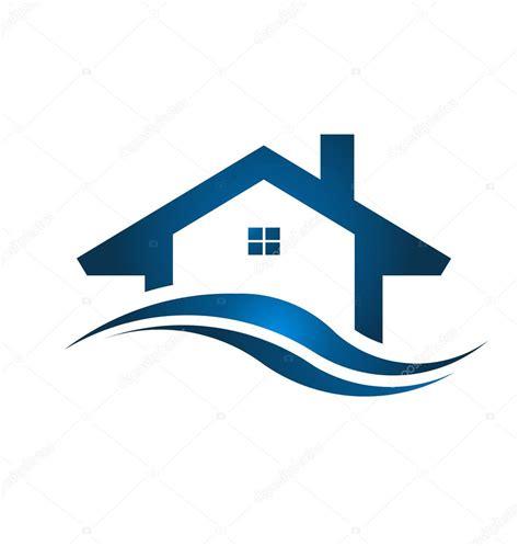 blue house real estate mavi ev emlak logosu resmi stok vekt 246 r 169 deskcube 45684223