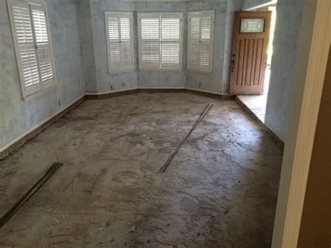 fill in sunken living room filling sunken living room with concrete