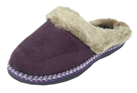 slippers size 3 womens coolers micro suede fluffy fur mules