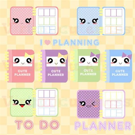 printable kawaii planner stickers kawaii planner clipart cute planner time printable