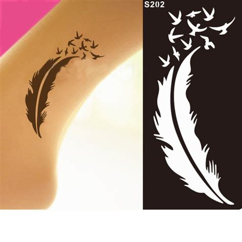 temporary tattoo stencils 6pc india mehndi leg henna stencil henna