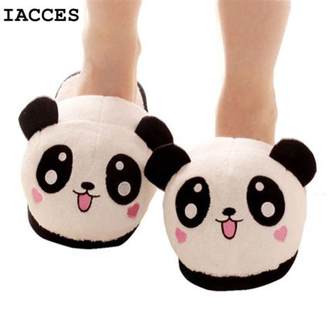 cute house shoes cute funny panda women slippers with heel lovely cartoon indoor eyes face home