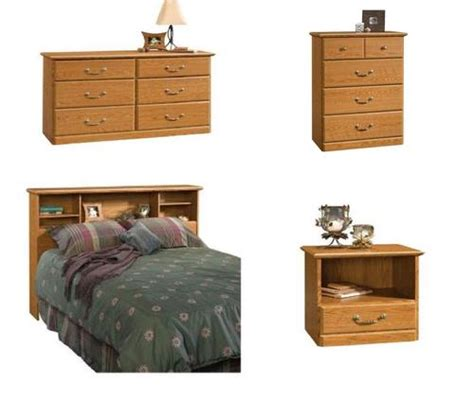sauder orchard collection 4 bedroom set at