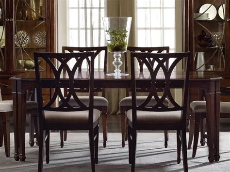 hooker dining room table hooker furniture palisade dark wood 76 l x 44 w rectangular dining table hoo518375200