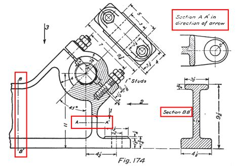 see section section view exle in drafting all things autocad