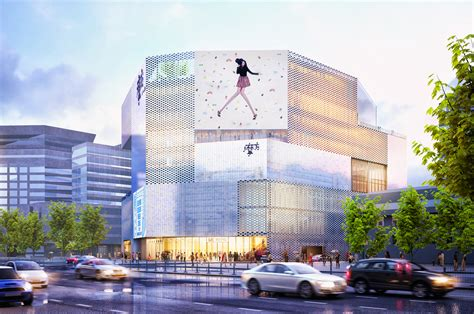 layout of northeast mall mvrdv designs shopping center with pearlescent fa 231 ade in