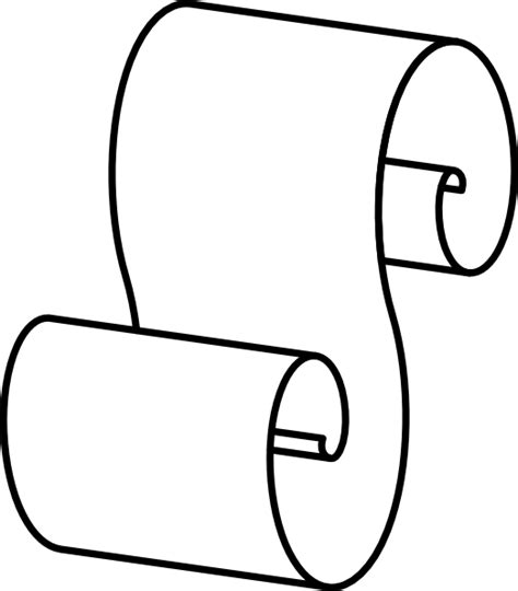 scroll drawing template scroll outline clip at clker vector clip