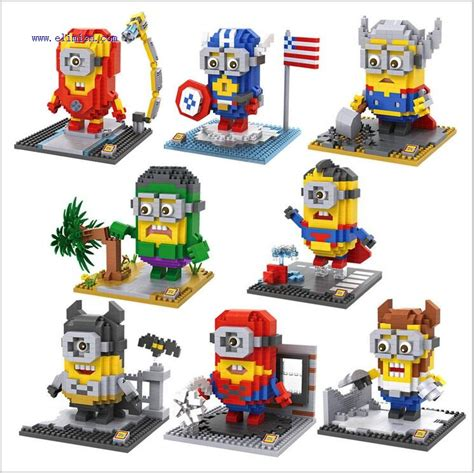 Nanoblock Tom And Jerry Stitch Mini Lego Brick Frozen loz minons mini blocks minion 9536 9543