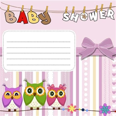hacer tarjetas de baby shower de buho invitaciones gratis para baby shower descargalas gratis