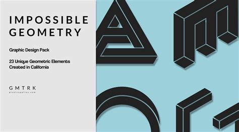 design graphics pack impossible geometry surreal graphic design elements
