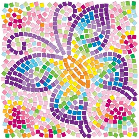 4m window mosaic art butterfly