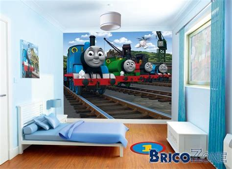 Thomas The Tank Wall Mural association couleur chambre enfant