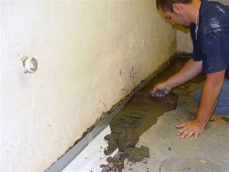 basement wall drainage nine steps to take before finishing your basement in