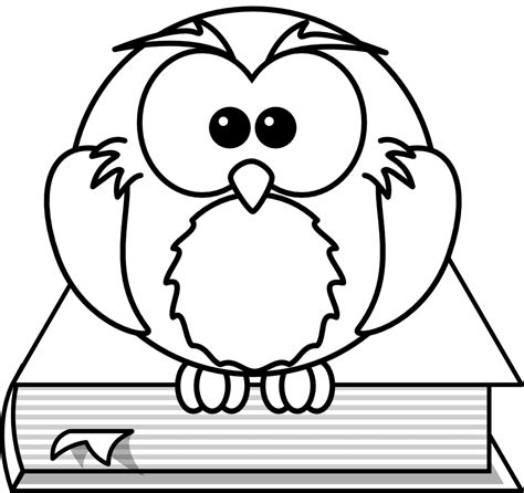 colouring book free software owl coloring pages clipart best
