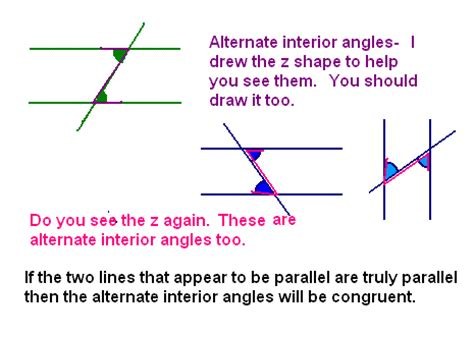 What Does Co Interior by Congruent Alternate Interior Angles Pictures To Pin On