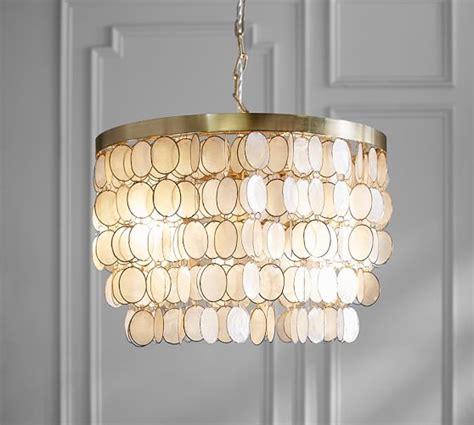 elsie capiz chandelier pottery barn