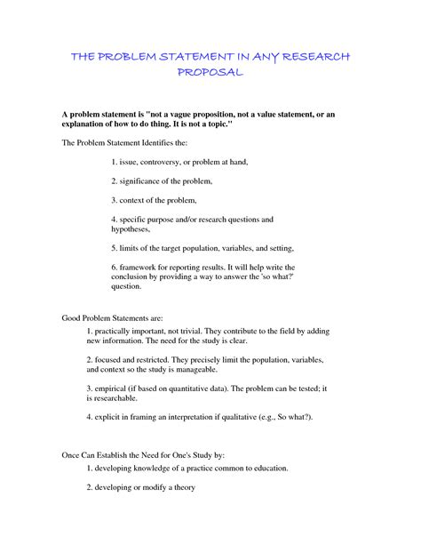 problem statement for thesis writing a dissertation problem statement cardiacthesis x