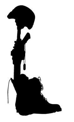 army soldier saluting silhouette png clip art image | Надо