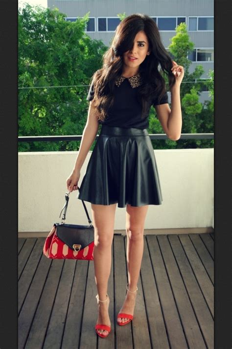 best 25 leather skater skirts ideas only on