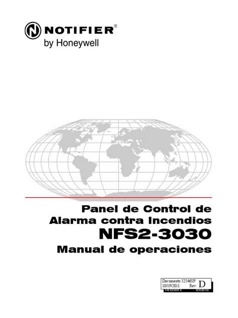 manual del panel de control de alarma contra incendios manual de operaciones panel nfs2 3030 pdf