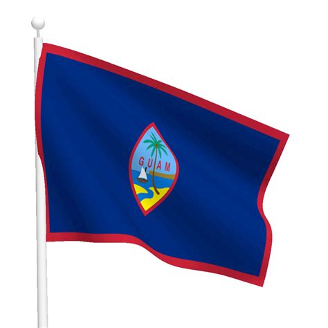 Nautical Wall Stickers guam flag flags international