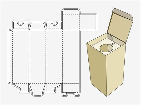 printable box template with lid wine box template
