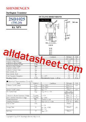a1023 transistor pdf 2sd1025 데이터시트 pdf shindengen electric mfg co ltd
