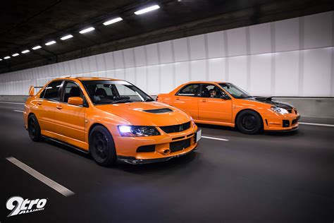 subaru evo 9 subaru wrx sti mitsubishi evolution 9 the orange