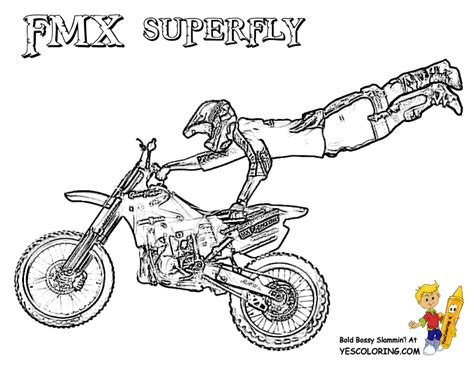 Freestyle Motocross Coloring Pages Coloring Pages Motocross Coloring Pages