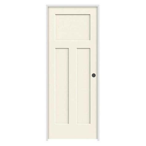 Jeld Wen 28 In X 80 In Molded Smooth 3 Panel Craftsman Hollow Interior Doors