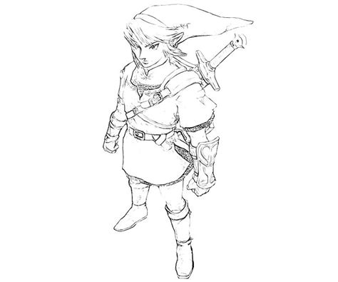 link coloring pages the legend of link character yumiko fujiwara