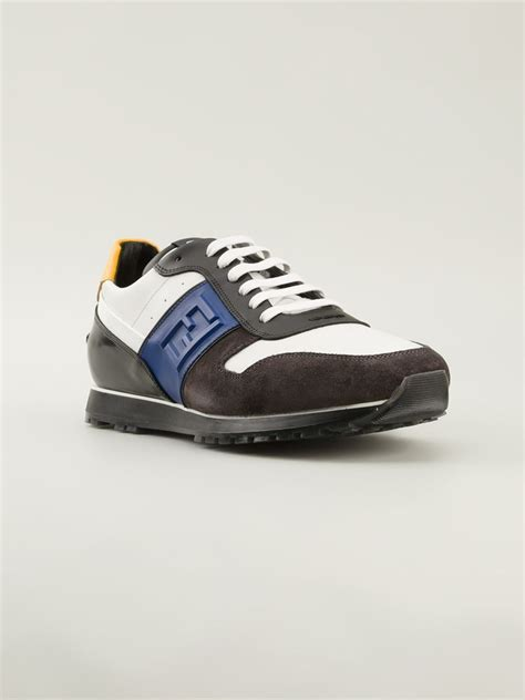 fendi sneakers fendi low sneakers in brown for lyst