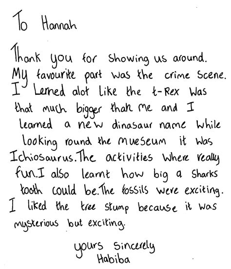 Thank You Letter Ks2 Exle Thank You Letters Ks2 Cover Letter For Offer Of Employment Template30 Thank You