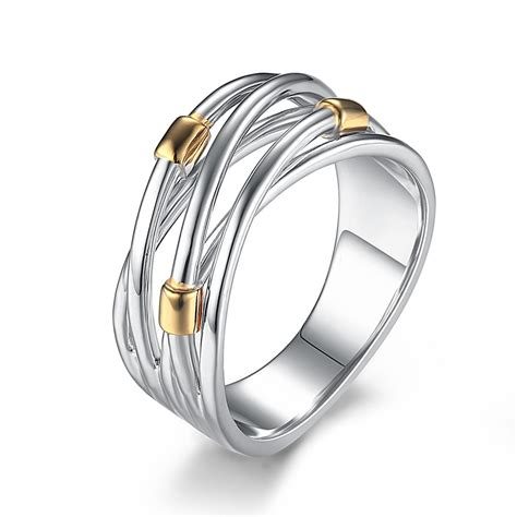 Intertwined Rings intertwined sterling silver cocktail ring lajerrio jewelry
